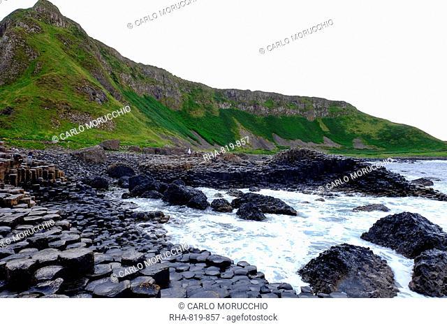 Giant's Causeway, UNESCO World Heritage Site, Bushmills, County Antrim, on the north coast of Northern Ireland. Ulster, Northern Ireland, United Kingdom, Europe