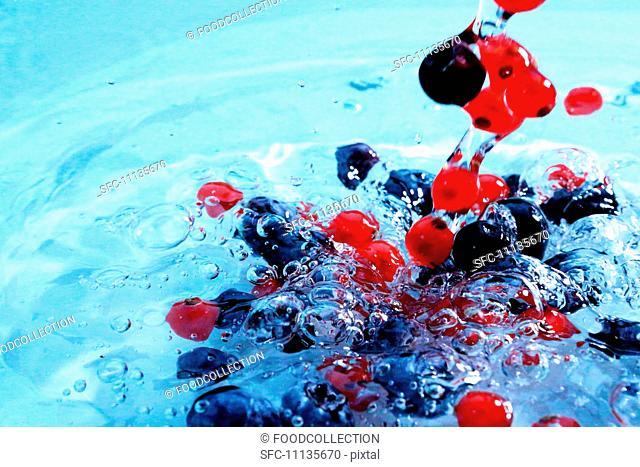 Berries in water