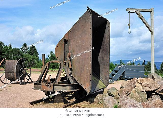 The gallows at Natzweiler-Struthof, the only concentration camp established by the Nazis on French territory, Alsace, France