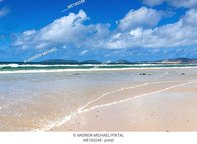 Sandy beaches part of the Great Sandy National Park, Queensland, Australia