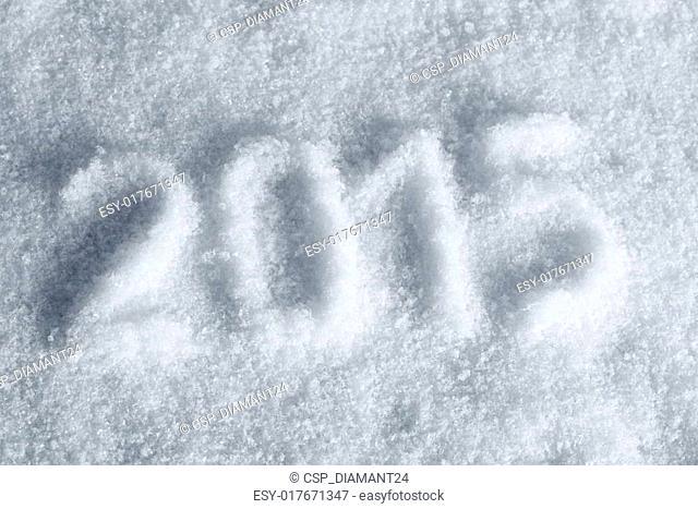 2015 draw stamp on snow, light blue tint