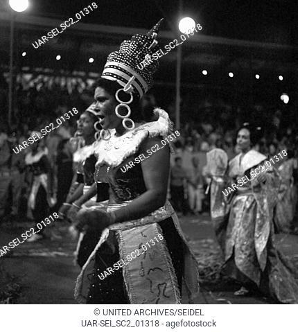 Karneval in Rio de Janairo, Brasilien 1966. Carnival in Rio de Janairo, Brazil 1966