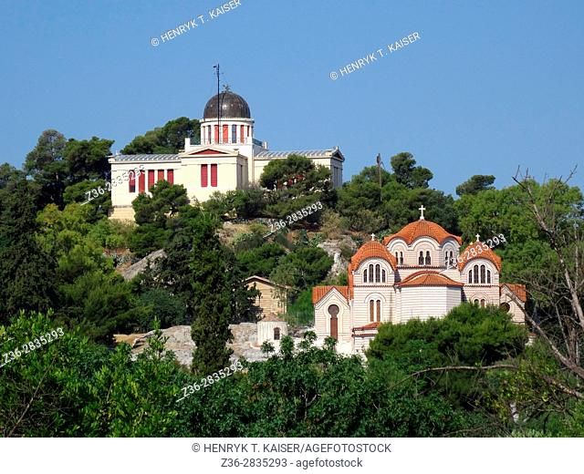 Agias Marinas Church and National Observatory of Athens, Greece