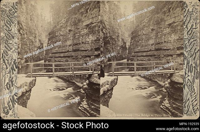 Ausable Chasm. The bridge at Table Rock. Additional title: Gems of the Adirondacks. Baldwin, G. W. (George W.) (Photographer). Robert N
