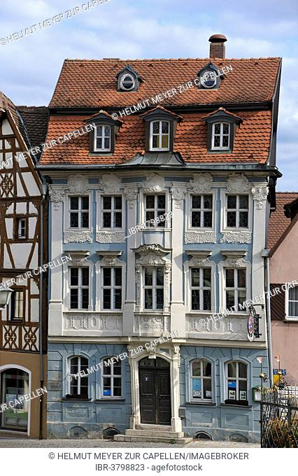 Rococo building, built in 1743 by Michael Krauß, Bad Windsheim, Middle Franconia, Bavaria, Germany