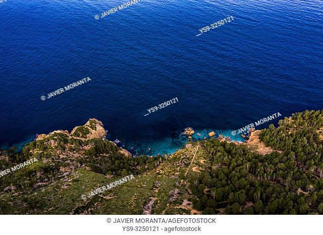 Aerial photography of the north coast of the island of Mallorca