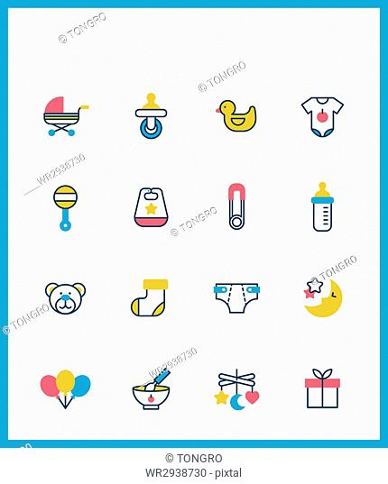 Icons of various baby supplies