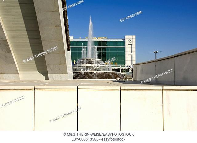 World Trade complex and fountain, Ashgabat, Turkmenistan