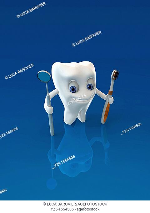 3D Tooth character