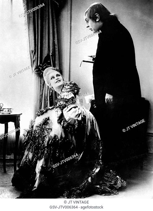 Lil Dagover, Werner Krauss, on-set of the Silent Film Herr Tartuff (aka Tartuffe), 1926