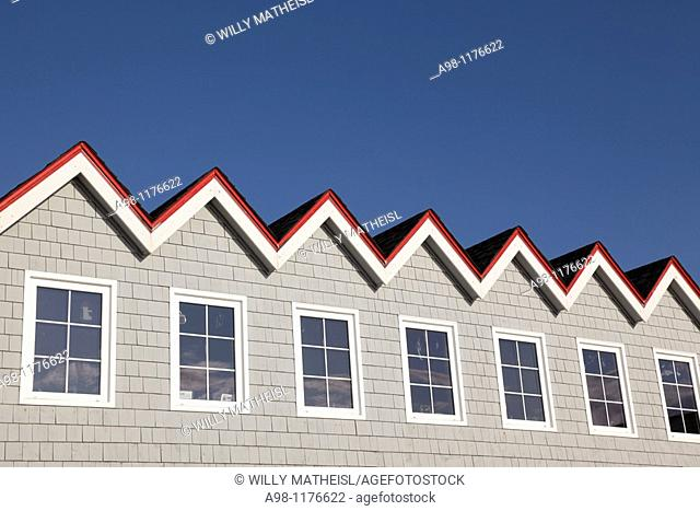 Roof of the Sou'Wester Restaurant at the fishing port Peggys Cove, Nova Scotia, Canada, North America