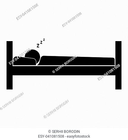 Man sleeping it is the black color icon