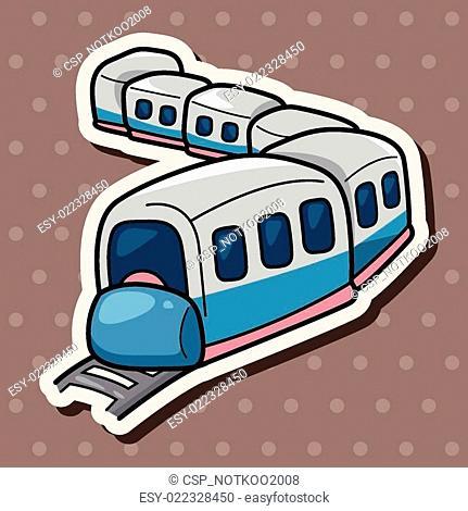 transportation train theme elements