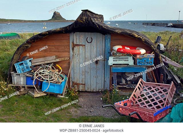 Lindisfarne Island Northumberland Fishermans sheds