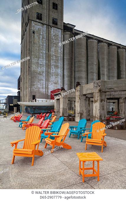 USA, New York, Western New York, Buffalo, Silo City, new entertainment district around renovated grain elevators