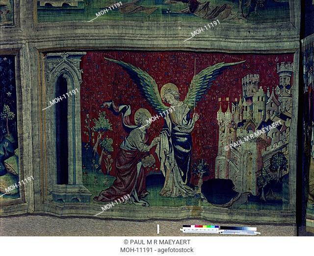 La Tenture de l'Apocalypse d'Angers, La mesure de la Jérusalem nouvelle 1,45 x 2,46m, die Vermessung des neuen Jerusalems