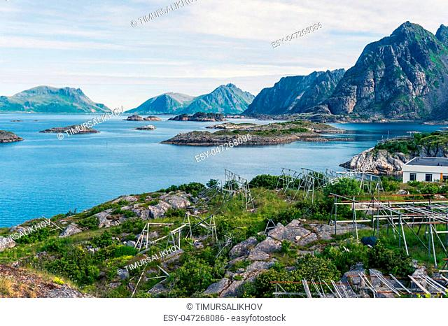 Henningsvaer is a fishing village and tourist town located on Austvagoya in the Lofoten Islands. Norway