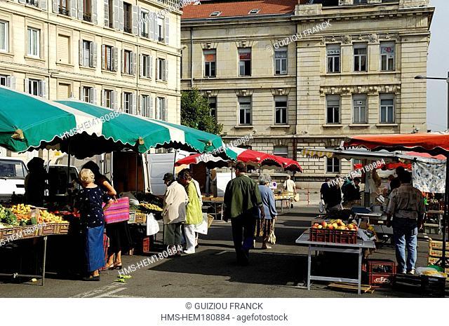 France, Loire, Saint Etienne, market day