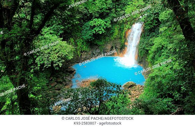Rio Celeste. Parque Nacional Volcan Tenorio, Costa Rica