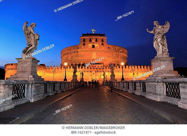 Ponte Sant'Angelo bridge, Rome, Italy, Europe