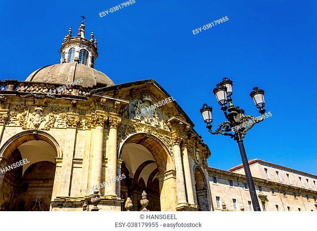 Shrine and Basilica of Loyola, between the towns of Azpeitia and Azcoitia