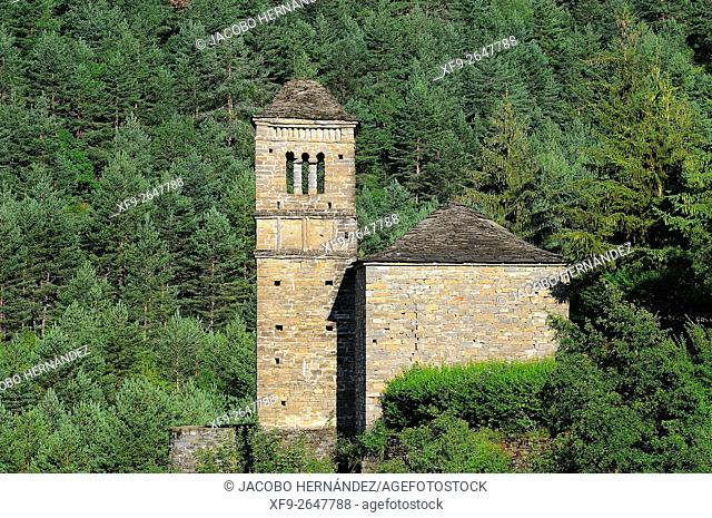 Romanesque church of San Bartolomé in Gavín.11th century.El Serrablo.Huesca province.Aragón.Spain