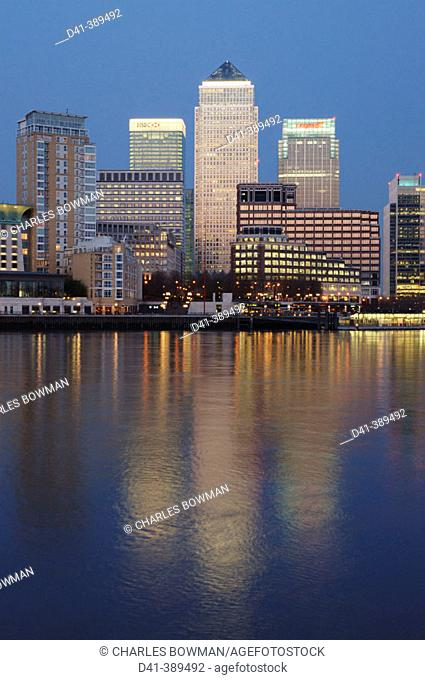UK, London, Canary Wharf / Isle of Dogs Business District