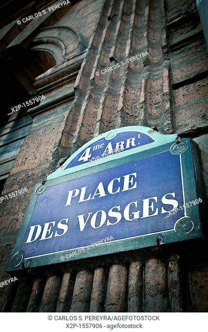 Place des Vosges, It is one of the oldest squares of Paris, Le Marais, Ile de France, Paris, France