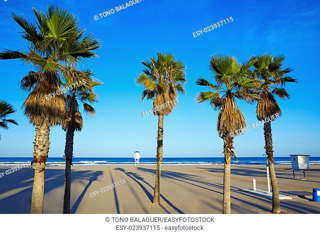 Gandia beach in Valencia of Mediterranean Spain