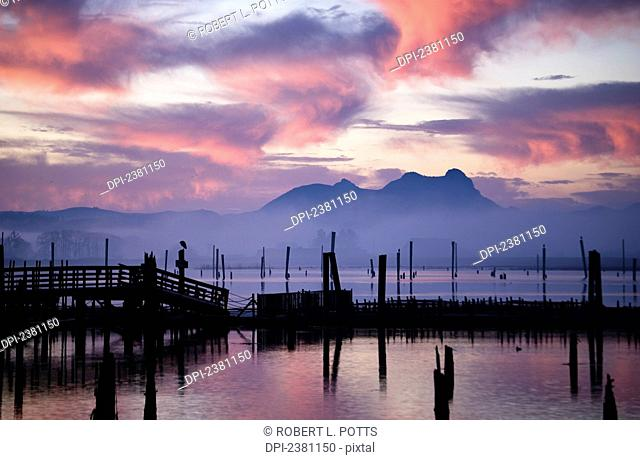Youngs Bay and Saddle Mountain; Astoria, Oregon, United States of America