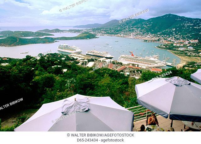 Charlotte Amalie from Paradise Point Tramway. Saint Thomas Island. U.S. Virgin Islands