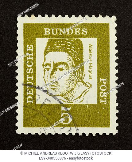 GERMANY - CIRCA 1960: Stamp printed in Germany shows Albertus Magnus, circa 1960