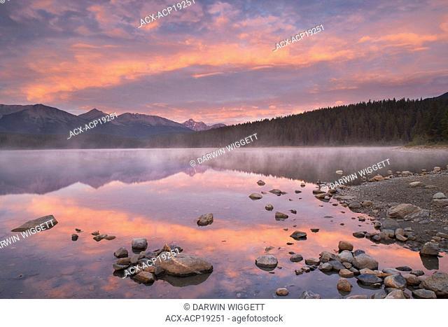 Patricia Lake at sunrise, Jasper National Park, Alberta, Canada