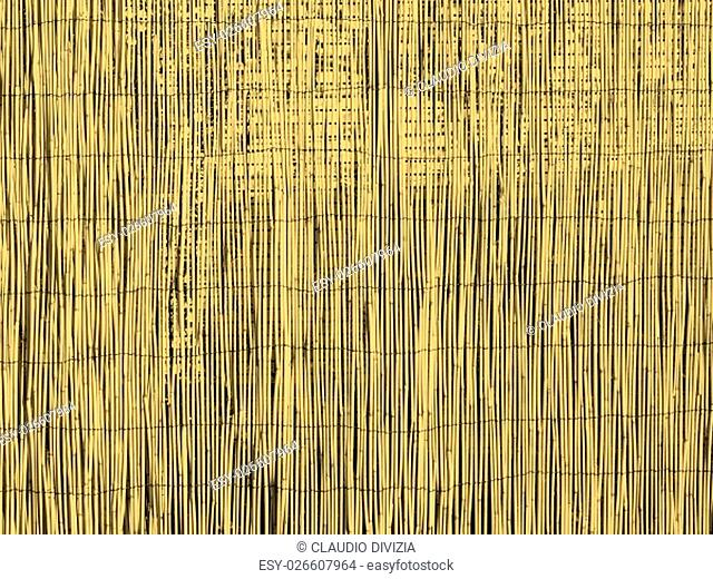 Bamboo fence or wall background vintage sepia
