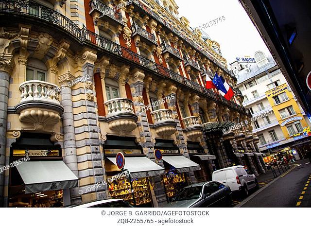Streets Of Lourdes, France