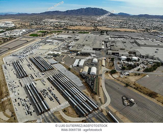 Aerial view of the Ford Motor Company automotive company in the Hermosillo industrial park. Automotive industry. Hermosillo Stamping and Assembly is an...