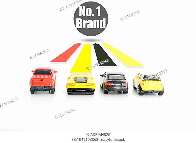 Best car seller concept with car toys