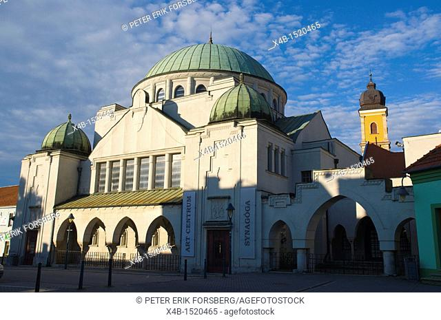 Former synagogue housing art gallery complex Trencín city Slovakia Europe