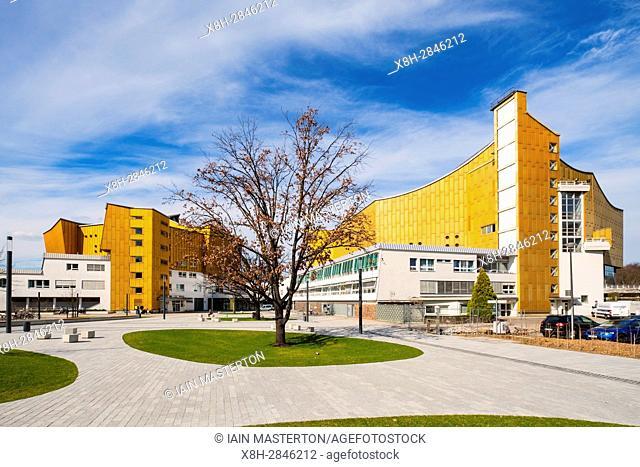 View of Berlin Philharmonie concert halls, home of Berlin Philharmonic orchestra in Berlin, Germany