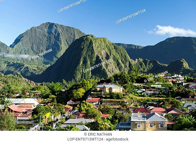 France, Reunion Island, Hell Bourg. Hell Bourg village in the Cirque de Salazie caldera on the French island of Reunion in the Indian Ocean