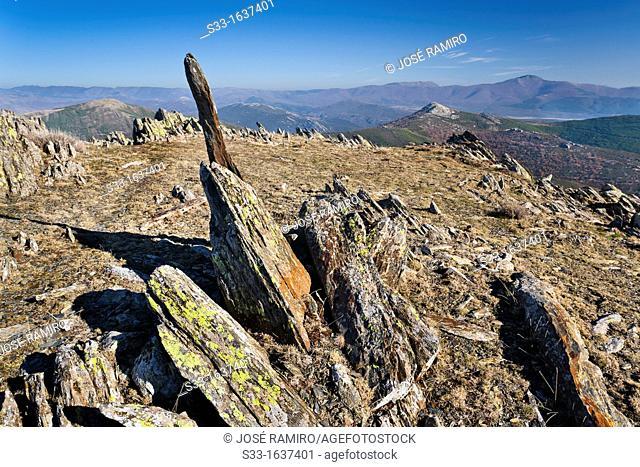 Slate quarry in the Tornera  Sierra Norte  Madrid  Spain