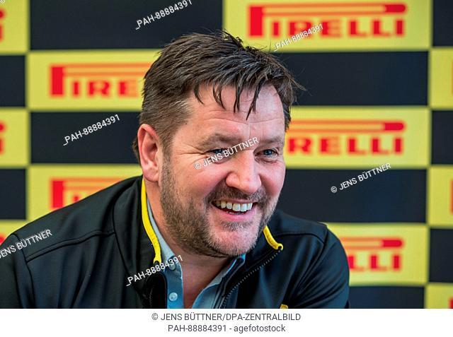 Pirelli motorsports CEO Paul Hembery , photographed during the testing before the new season of the Formula One at the Circuit de Catalunya race treak near...