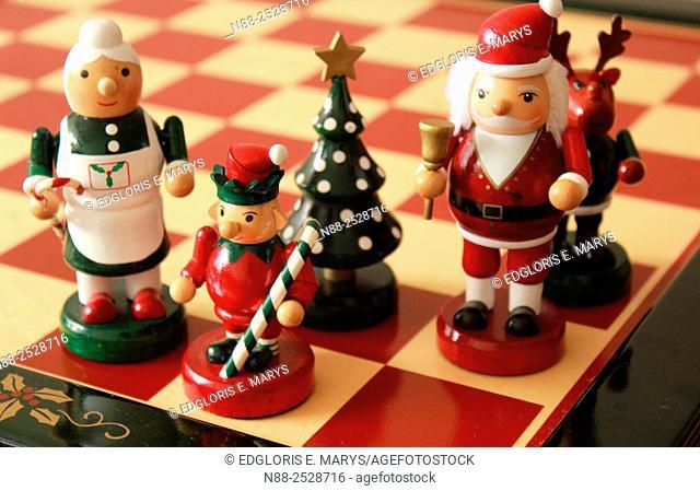 Christmas chessboard