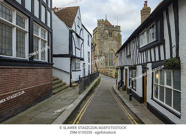 Hastings old town, East Sussex, England