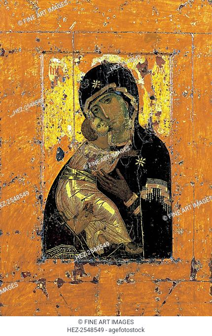 The Virgin of Vladimir, Byzantine icon, early 12th century. Found in the collection of the State Tretyakov Gallery, Moscow