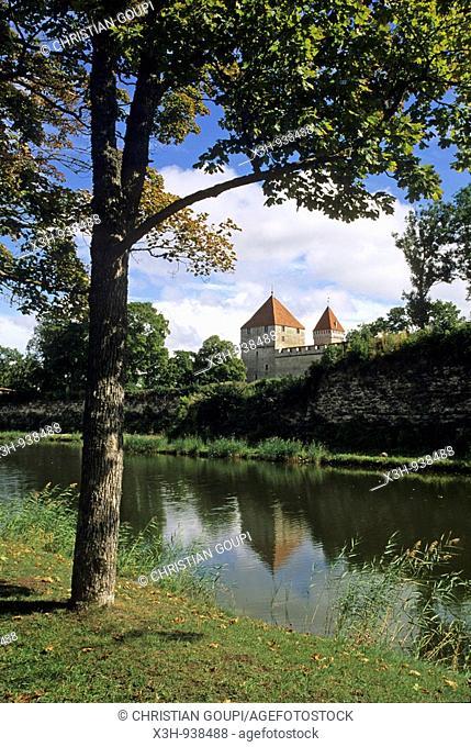 chateau episcopal de Kuressaare sur l'ile de Saaremaa,region de Saare,Estonie,pays balte,europe du nord