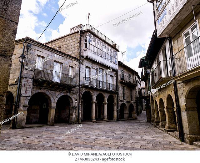 Plaza de la Magdalena. Barrio judío. Ribadavia. Ourense. Galicia. Spain