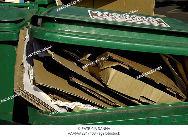 Paper Recycling Container, Nantes, Loire-Atlantique, France