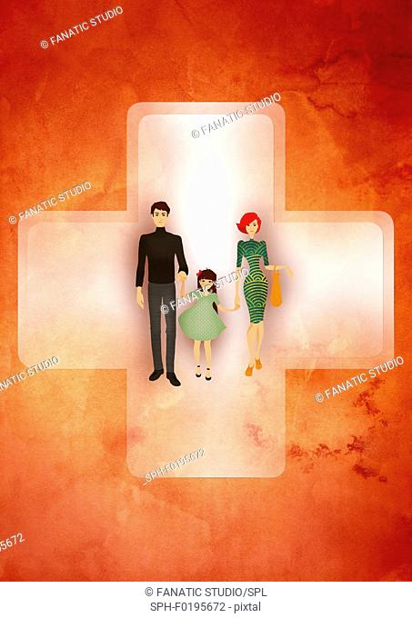 Medical insurance, illustration