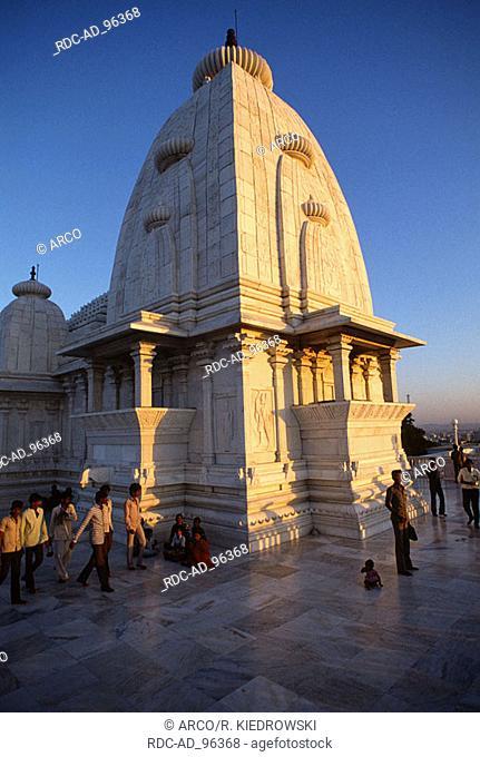 Birla Mandir temple made of white marble Hyderabad India